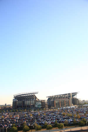 Philadelphia, September 7, 2010: Lincoln Financial Field, home of the NFL Eagles, located in the South Philly sports complex. Stock Photo - 8796907