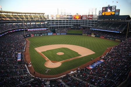 Arlington, Texas, September 27, 2010: A late season American League baseball game at Texas Rangers Ballpark in Arlington.