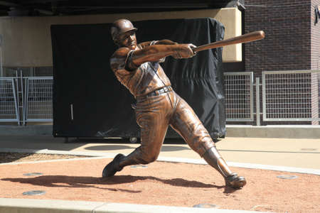 Minneapolis, April 21, 2010: Statue of Harmon Killebrew displayed at Target Field, the brand new ballpark of the Minnesota Twins.