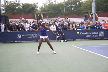 New York - September 9, 2010: Sloan Stephens of the USA  defeats Elina Svitolina of the Ukraine at a U.S. Open Junior Girls Singles 3rd Round Match 6-4 6-0, at the Billie Jean King Tennis Center in New York.