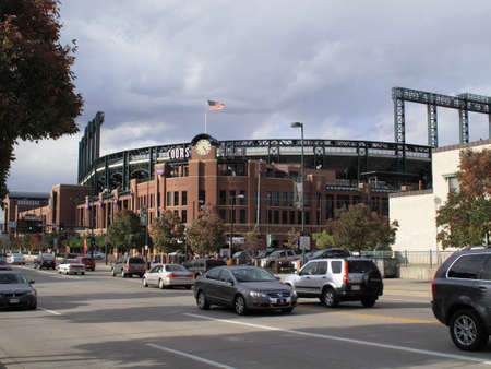 Denver, Colorado - September 30, 2009: Coors Field, downtown home of the Colorado Rockies.