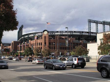 denver parks: Denver, Colorado - September 30, 2009: Coors Field, downtown home of the Colorado Rockies. Editorial