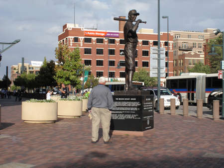 Denver, Colorado - September 30, 2009: Baseball player tribute at Coors Field, the downtown home of the Colorado Rockies.