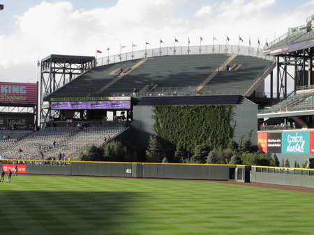 Denver, Colorado - September 30, 2009: The Rock Pile section at Coors Field, downtown home of the Colorado Rockies