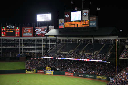 ballpark: Arlington, Texas - September 27, 2010: Scoreboard and luxury boxes at Texas Rangers Ballpark in Arlington. Editorial