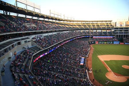 Arlington, Texas - September 27, 2010: A late season American League baseball game at Texas Rangers Ballpark in Arlington.
