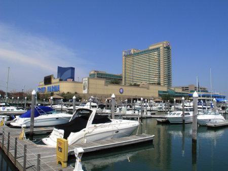 Atlantic City, New Jersey - April 20, 2011: Trump Marina Hotel and Casino resort in the Marina section of Atlantic City.