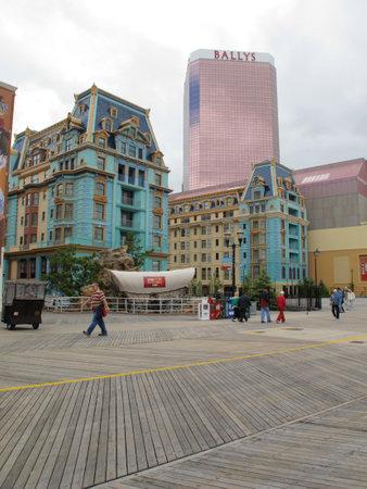 atlantic city: Atlantic City, New Jersey - May 19, 2010: Boardwalk, Ballys Casino Hotel and the New Jersey shore.