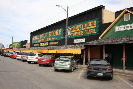 street drug: Wall, South Dakota - September 26, 2008: Famous Wall Drug Store in South Dakota.