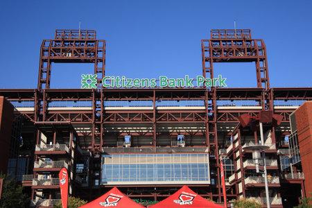 Philadelphia, Pennsylvania - September 7, 2010: Citizens Bank Park, home of the Phillies.
