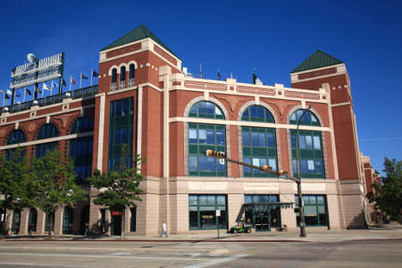 Arlington, Texas - September 28, 2010: Texas Rangers Ballpark In Arlington, home of the playoff bound Rangers, is a baseball only facility which opened in 1994.