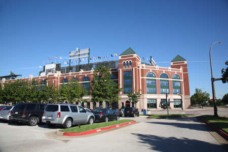Arlington, Texas - September 28, 2010: Texas Rangers Ballpark In Arlington, home of the playoff bound Rangers, is a baseball only facility which opened in 1994. Stock Photo - 10970723