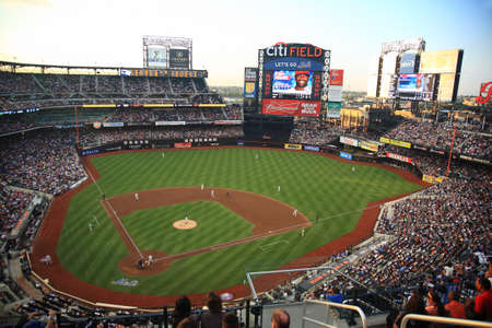 New York - July 15, 2011: Citi Field, home of the National League Mets during a night game.