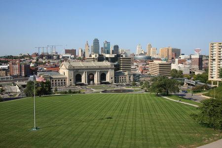 missouri: Kansas City - September 27, 2009: Union Station and the city skyline in Kansas City, Missouri. Editorial
