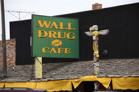 ted: Wall, South Dakota - September 26, 2008: Famous Wall Drug Store in South Dakota.
