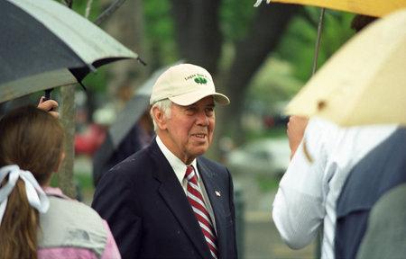 congressman: Washington, DC - April 29, 2005: Senator Richard Lugar, Republican of Indiana, at a tree planting ceremony on the grounds of the U.S. Capital in Washington. Editorial