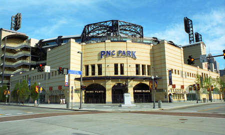 street corner: Pittsburgh - September 12, 2001: PNC Field, baseball home of the Pirates. PNC seats 38,362 and cost $216 million. Editorial