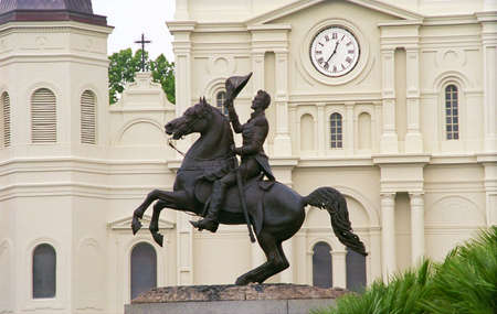 quarti: Andrew Jackson statua in Jackson Square, New Orleans, Louisiana