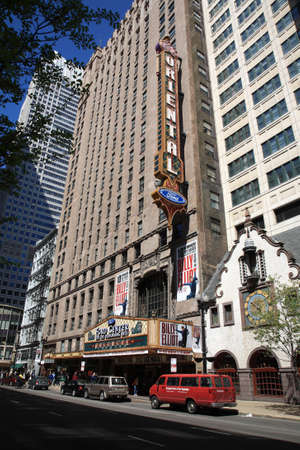 Chicago, Illinois - April 26, 2010: Famous marquee of Oriental Theater on a busy street. Stock Photo - 12355320