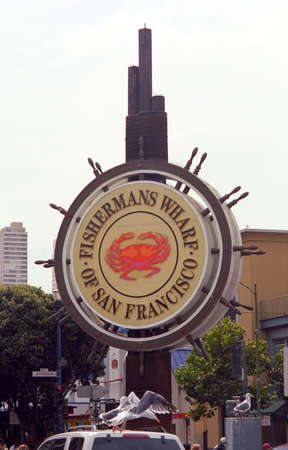 San Francisco, California - September 20, 2007: Famous Fishermans Wharf sign. Stock Photo - 13257284