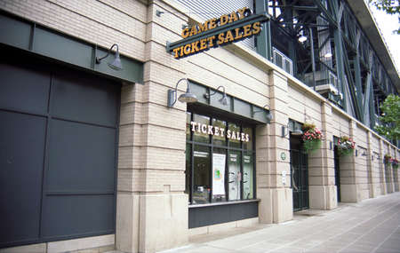 Seattle, Washington - September 15, 2007: Ticket booth at Safeco Field, home of the Mariners.
