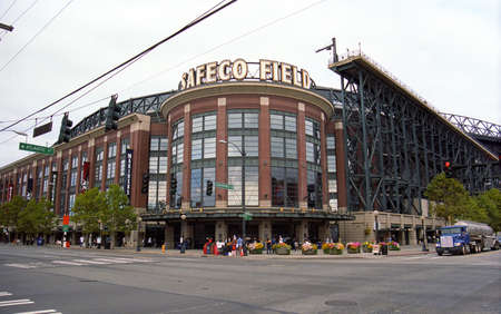 Seattle, Washington - September 15, 2007: Safeco Field, home of the Mariners, with retractable dome roof.