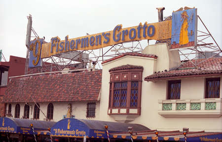 fishermens: San Francisco, California - September 20, 2007: Fishermens Grotto Restaurant near Fishermans Wharf tourist area in San Francisco. Editorial