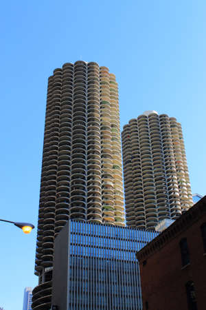 magnificent mile: Chicago - June 17, 2012: Famous Marina City parking garage. Editorial