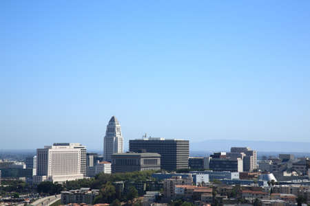 Los Angeles Skyline and City Hall Building photo