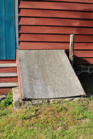 fema: Storm cellar under a barn.
