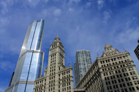 donald: Chicago - June 18, 2012: Wrigley Building and Trump Tower. Editorial