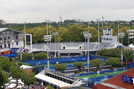 New York - September 5, 2012: Side courts at the USTA Billie Jean King National Tennis Center during the US Open.