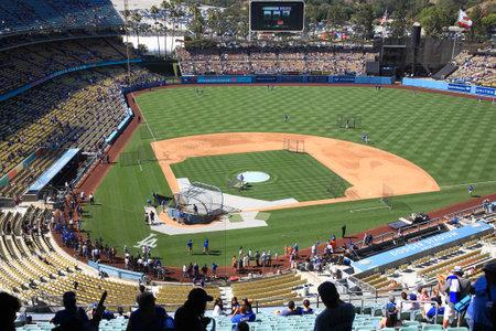 dodgers: Los Angeles - July 1, 2012: A Dodgers baseball game at Dodger Stadium.