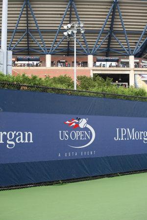 New York - September 5, 2012  Side court to Arthur Ashe Stadium at the US Open in Flushing, New York