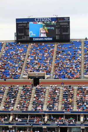 New York - September 5, 2012  A crowded Arthur Ashe Stadium for a Maria Sharapova U S  Open tennis match in Queens, New York City