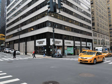 New York - November 13, 2014: A view of Lexington Avenue and 40th Street in Manhattan.