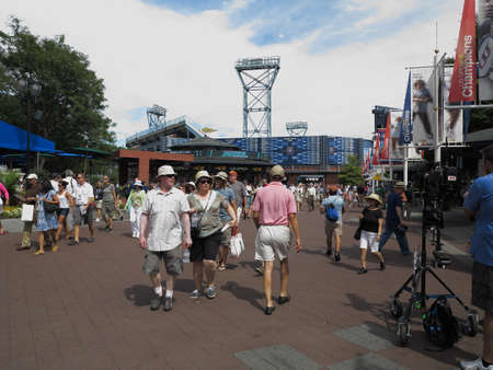 us open: Flushing, New York - September 3, 2014: US Open fans at the Billie Jean King Tennis Center