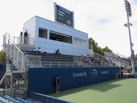 louis armstrong: Flushing, New York - September 3, 2014: Fans in the bleachers at a womens singles junior match at the 2014 US Open Tennis Championships.