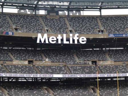 jets: East Rutherford, New Jersey - December 6, 2014: Upper decks for the football Jets and Giants at MetLife Stadium in New Jersey.