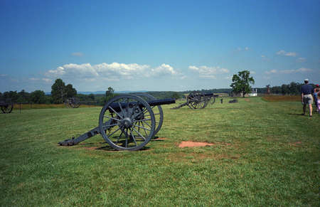 l first: Manassas American Civil War battlefield site in Virginia.