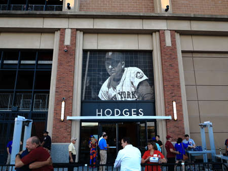 New York - September 22, 2017: Gil Hodges Gate at Citi Field, baseball home of the New York Mets.