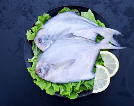 Seafood of silver Pomfret