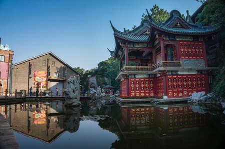 jiangsu: chinese ancient building at Zhenjiang, Jiangsu China