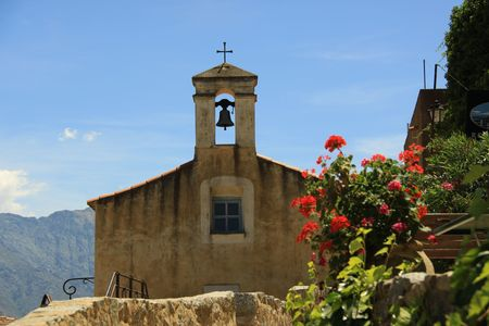 holidays vacancy: old chapel in corsican village france europe