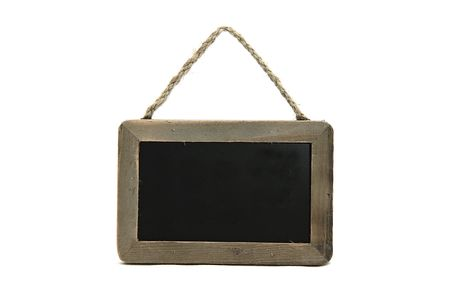 little black chalkboard on isolated background photo