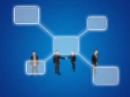 Businessman and diagram  photo