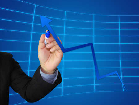Business write growth graph photo