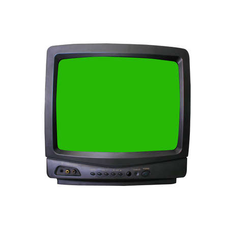 tv isolated and green screen Stock Photo - 10679754
