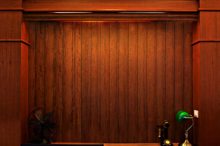 old wooden interior, is empty for your design  photo