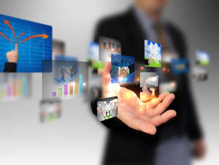 tecnologia: mão segurando Business Collection